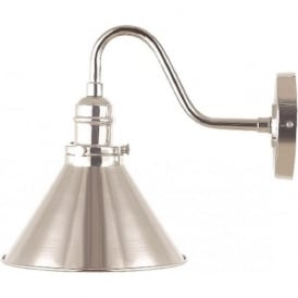 PROVENCE French cafe style wall light - polished nickel