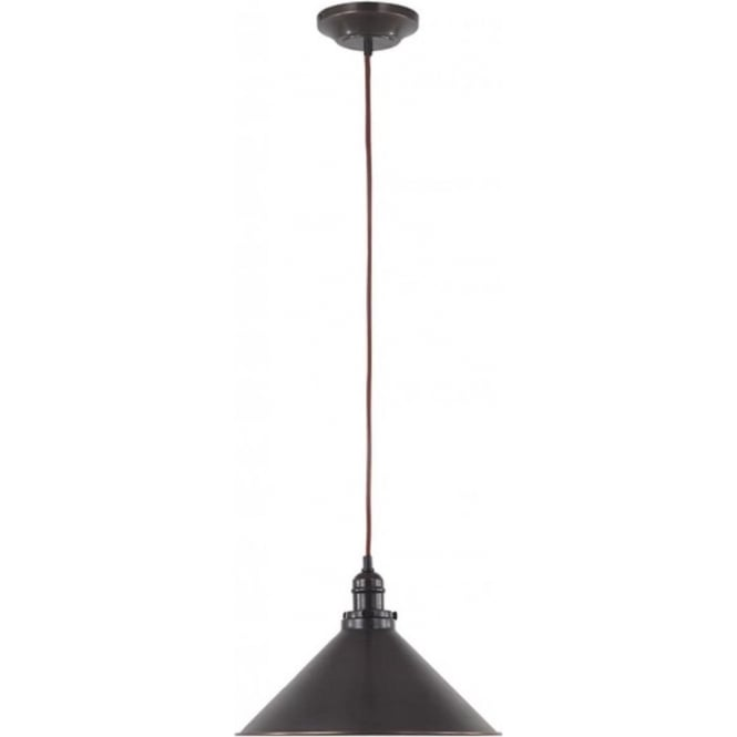 Single Hanging Coolie Ceiling Pendant Light In Old Dark Bronze Finish