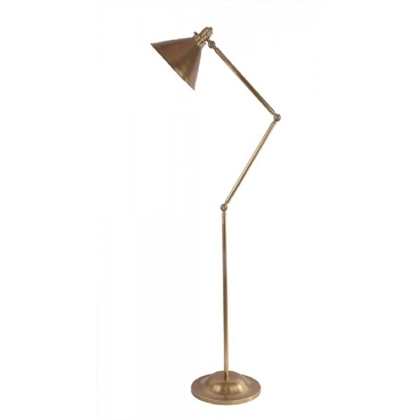 provence retro style adjustable angled floor lamp aged brass. Black Bedroom Furniture Sets. Home Design Ideas
