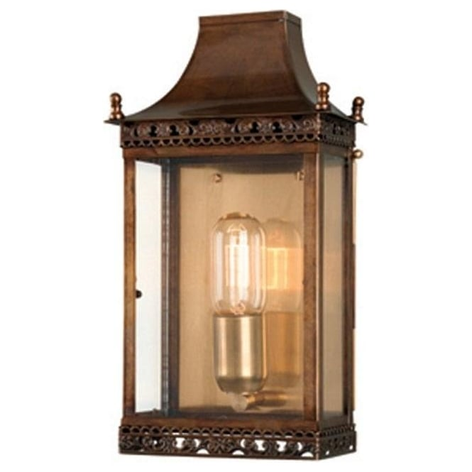 Chester Collection REGENTS PARK traditional solid antique brass outdoor wall lantern