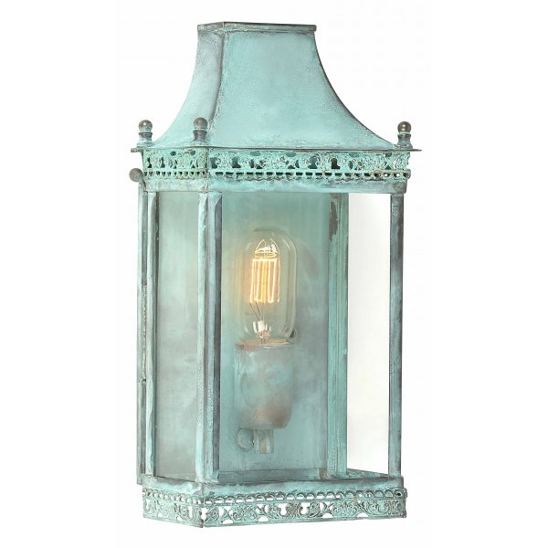 Verdigris flush fitting wall lantern georgian design - Georgian style exterior lighting ...
