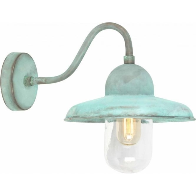 Chester Collection SOMERTON antique verdigris garden wall light