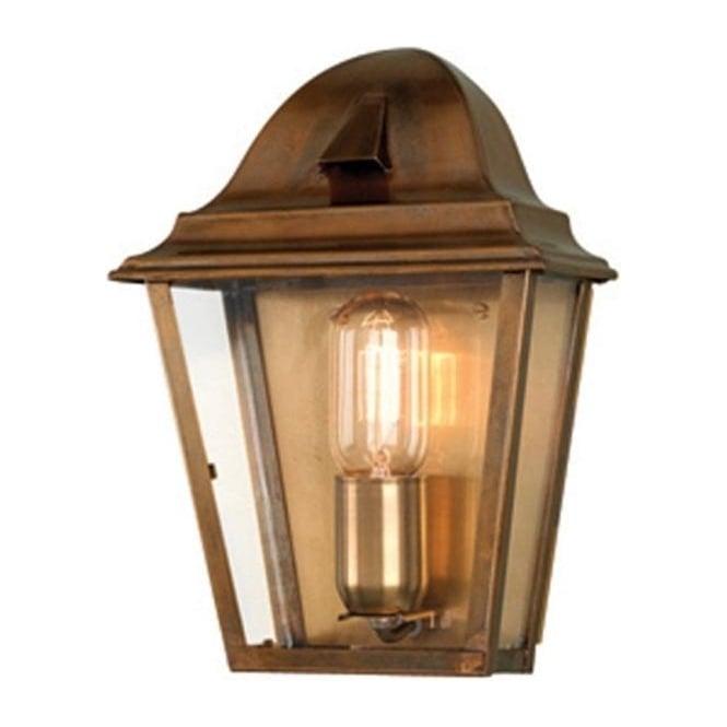 super popular 3ab70 0cc06 ST. JAMES antique brass outdoor wall lantern
