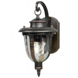 ST LOUIS traditional weathered bronze garden wall lantern (small)