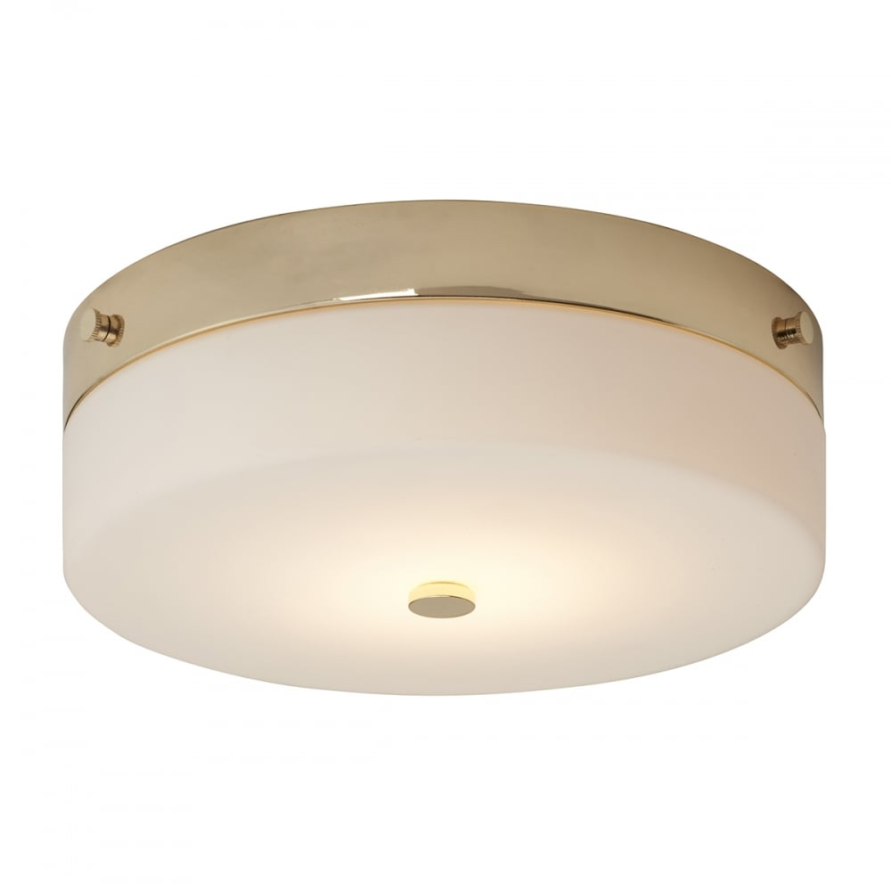 Tamar Ip44 Flush Fitting Circular Low Ceiling Light Large