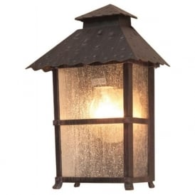 WADEBRIDGE flush fitting rustic outdoor wall lantern