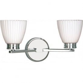 WALLINGFORD double IP44 chrome bathroom wall light