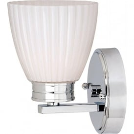 WALLINGFORD single IP44 chrome bathroom wall light