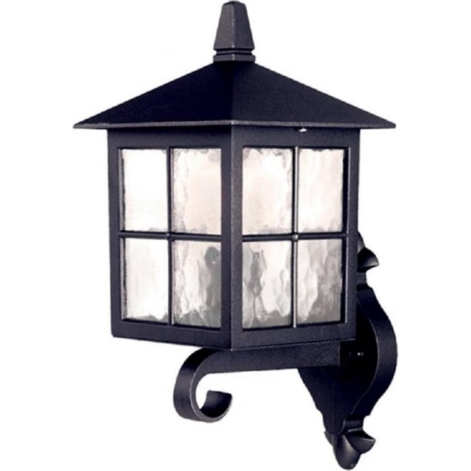 Chester Collection WINCHESTER traditional black aluminium garden wall lantern