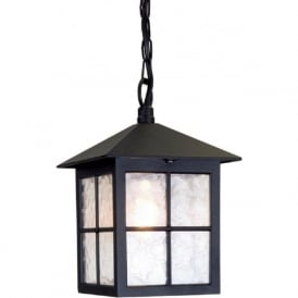 WINCHESTER traditional black aluminium hanging porch light