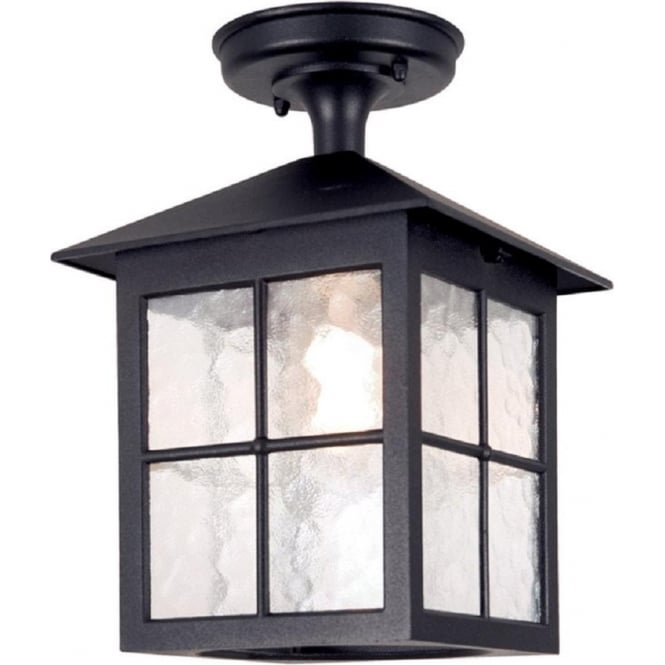 Chester Collection WINCHESTER traditional black aluminium porch light
