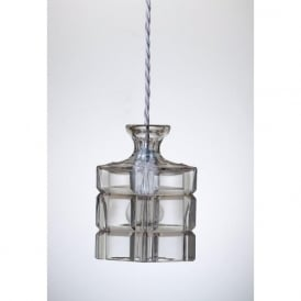 CLYDE lead crystal carafe ceiling pendant light