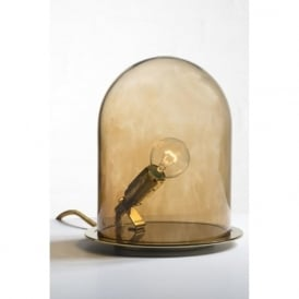 GLOW in a DOME chestnut brown glass table lamp (medium)