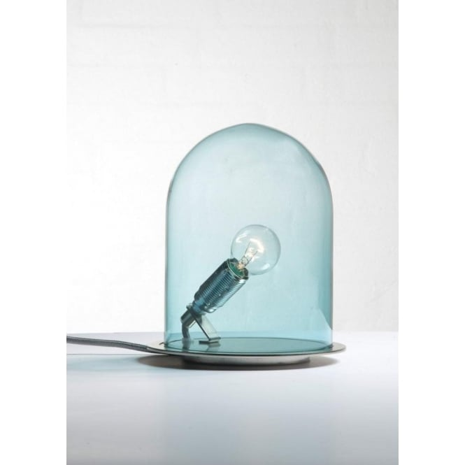 Copenhagen Glass Collection GLOW in a DOME deep blue glass table lamp (small)