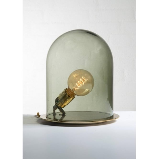 Copenhagen Glass Collection GLOW in a DOME olive glass table lamp (small)