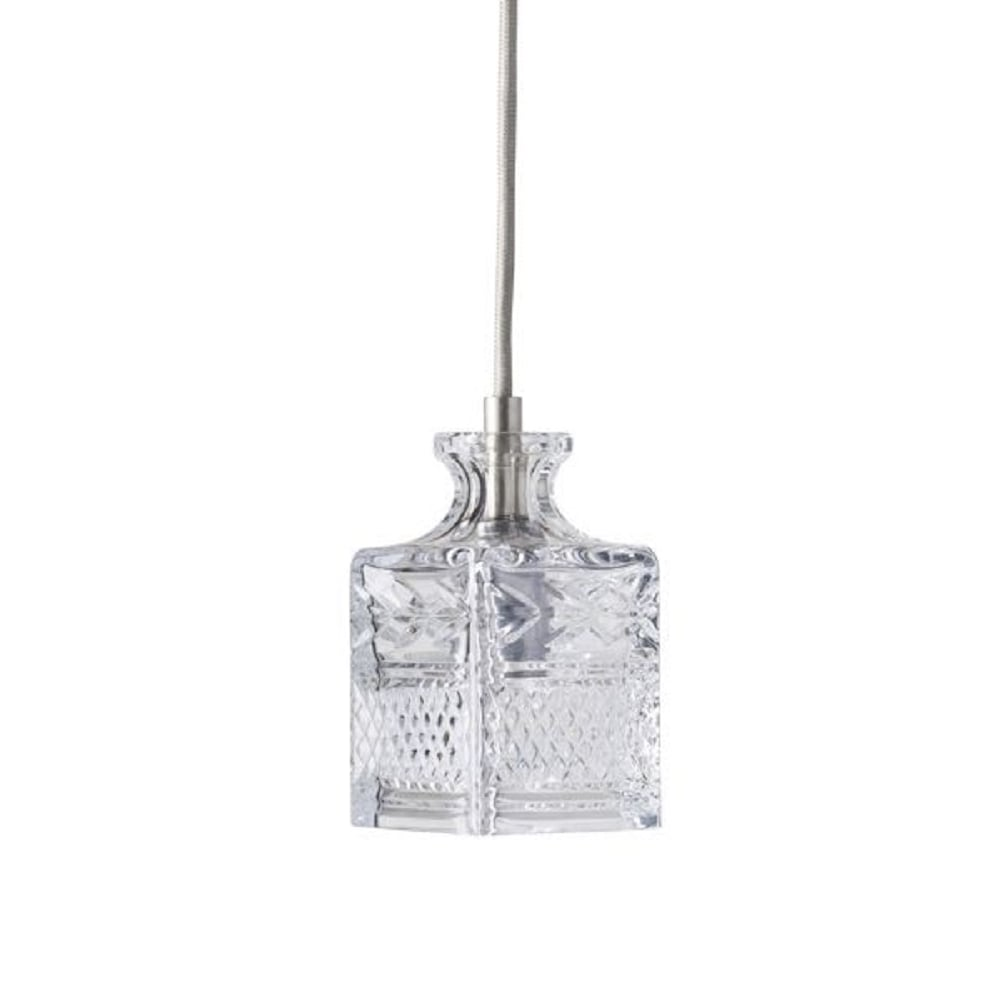 Lead Crystal Decanter Ceiling Pendant Light Hanging On