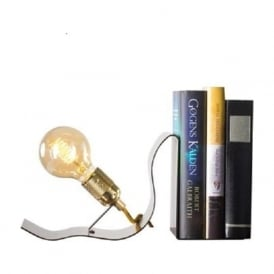 LEAN ON ME innovative design illuminated book end table light - brass