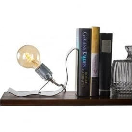 LEAN ON ME innovative design illuminated book end table light - silver