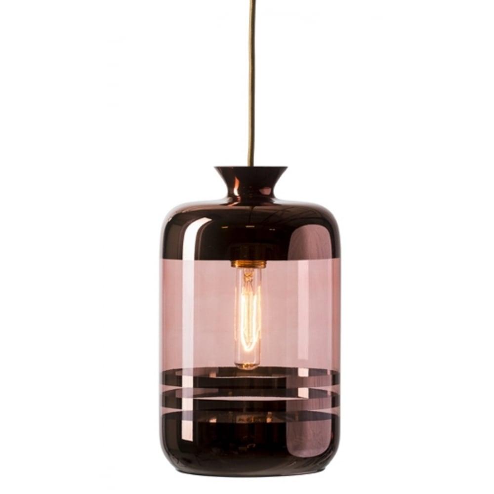 Transparent Glass Demijohn Ceiling Pendant Light With