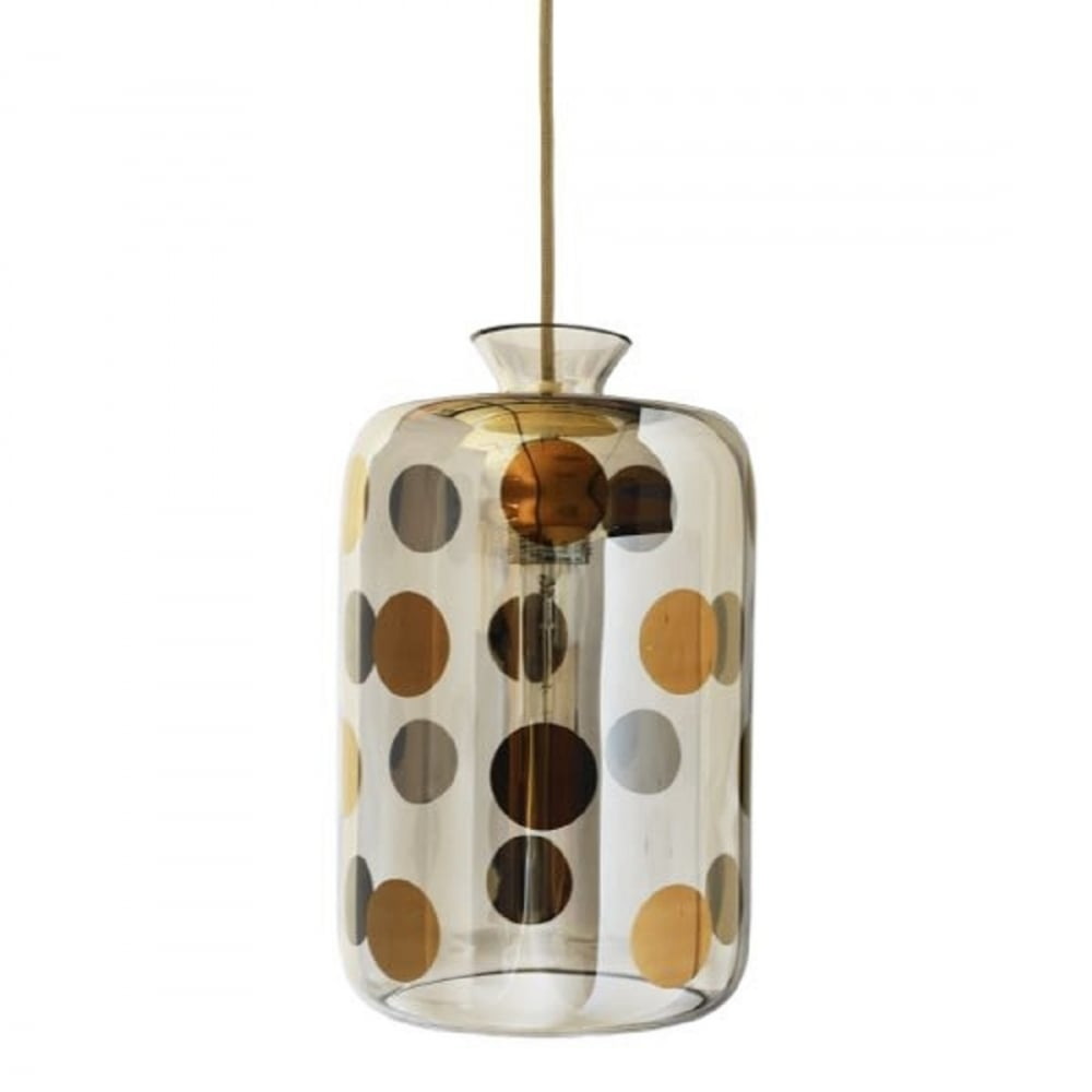 Hanging Grey Glass Bottle Ceiling Pendant Light With