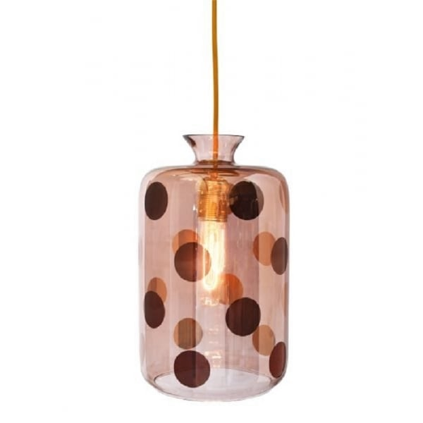 Hanging Demijohn Ceiling Pendant Light In Obsidian Glass