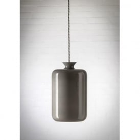 PILLAR BOTTLE hanging ceiling pendant with grey lustre glass