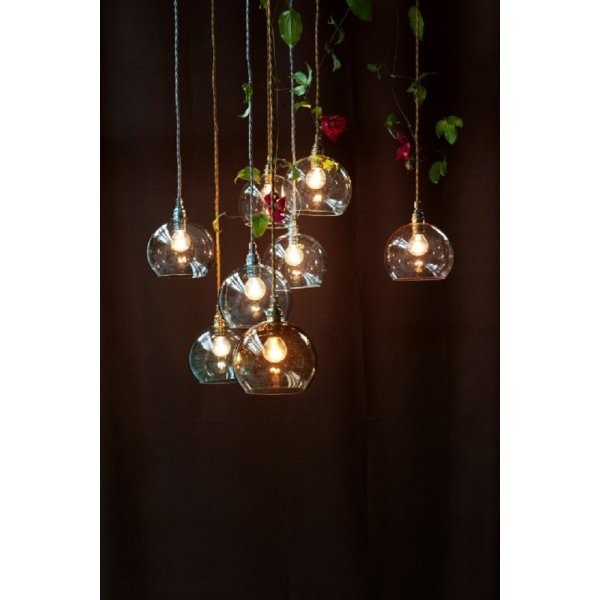 Clear glass globe mini ceiling pendant light on gold braided cable rowan clear glass ceiling pendant light gold cable mini aloadofball Image collections