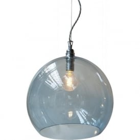 ROWAN large deep blue glass ceiling pendant light