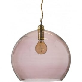 ROWAN large transparent obsidian glass ceiling pendant light