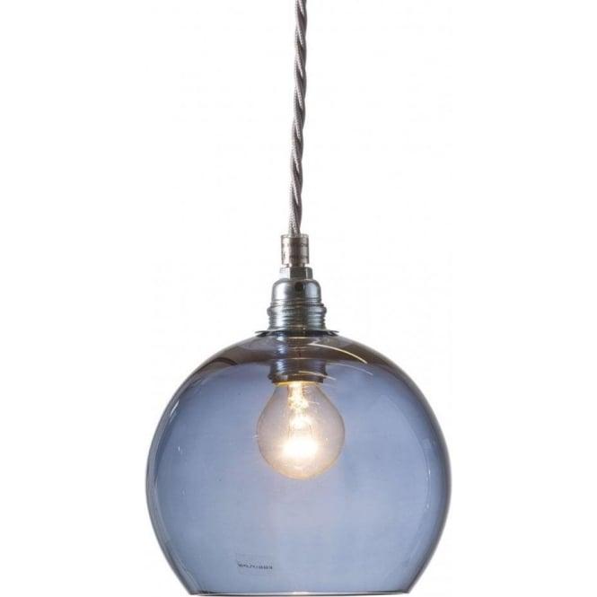 84859664d495 Long Drop Transparent Blue Glass Globe Ceiling Pendant Light