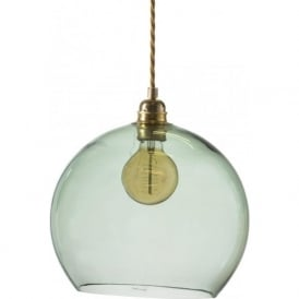 ROWAN medium forest green glass ceiling pendant light