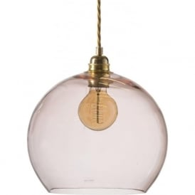 ROWAN medium transparent coral glass ceiling pendant light