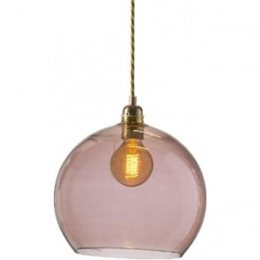 ce491d12ea6a Topaz Blue Glass Globe Hanging Ceiling Pendant Light with Long Drop