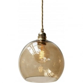 ROWAN mini chestnut brown glass ceiling pendant light