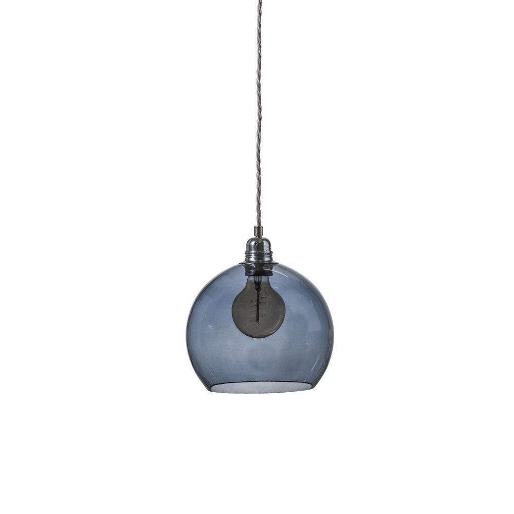Pendant Light Bulb Type : Mini blue transparent glass globe ceiling pendant shade on