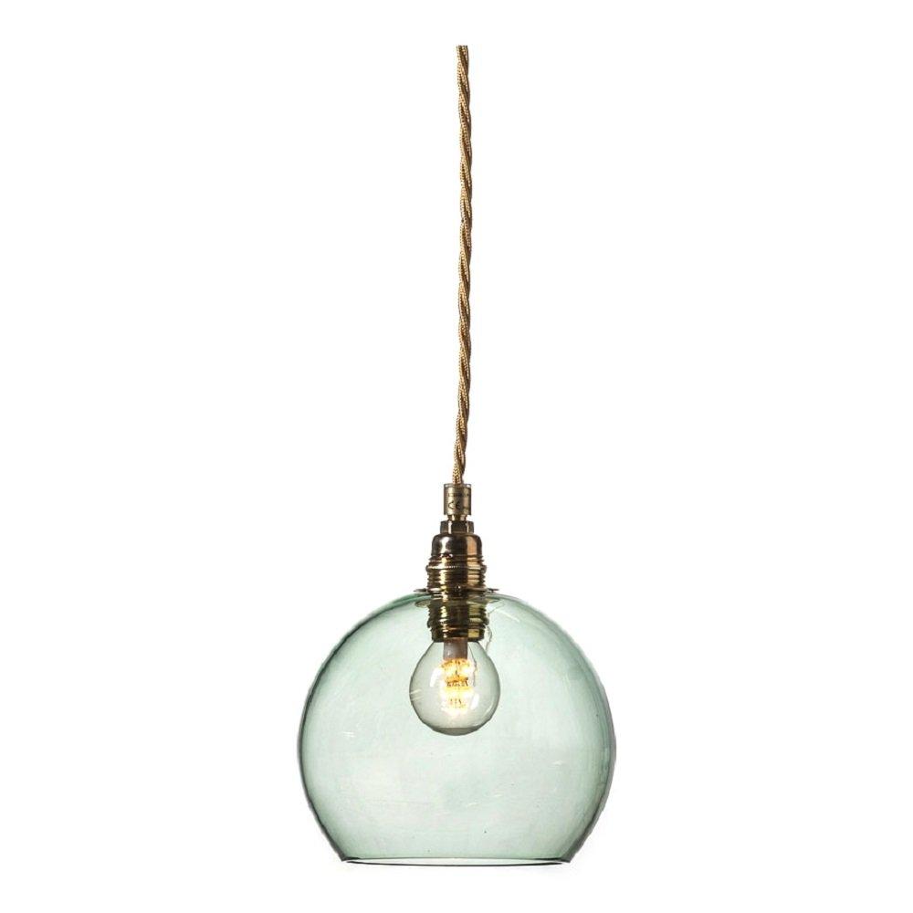 Mini Glass Globe Pendant Light In Forest Green Transparent