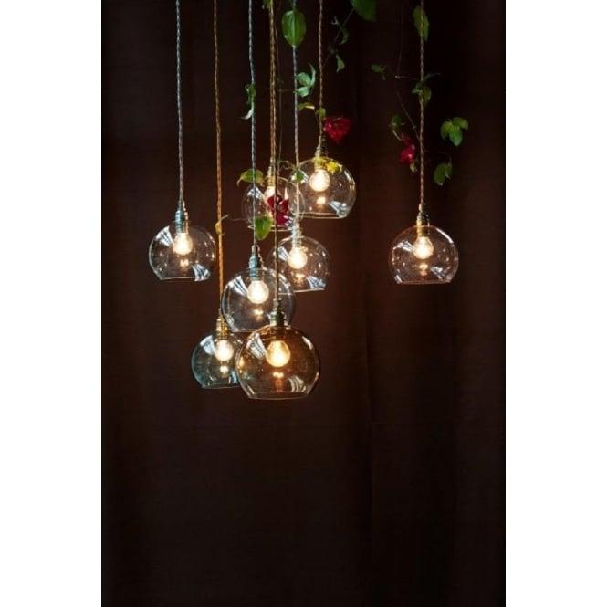 Smokey grey glass pendant light a mini blown globe with long drop rowan mini smoky grey glass ceiling pendant light aloadofball Gallery