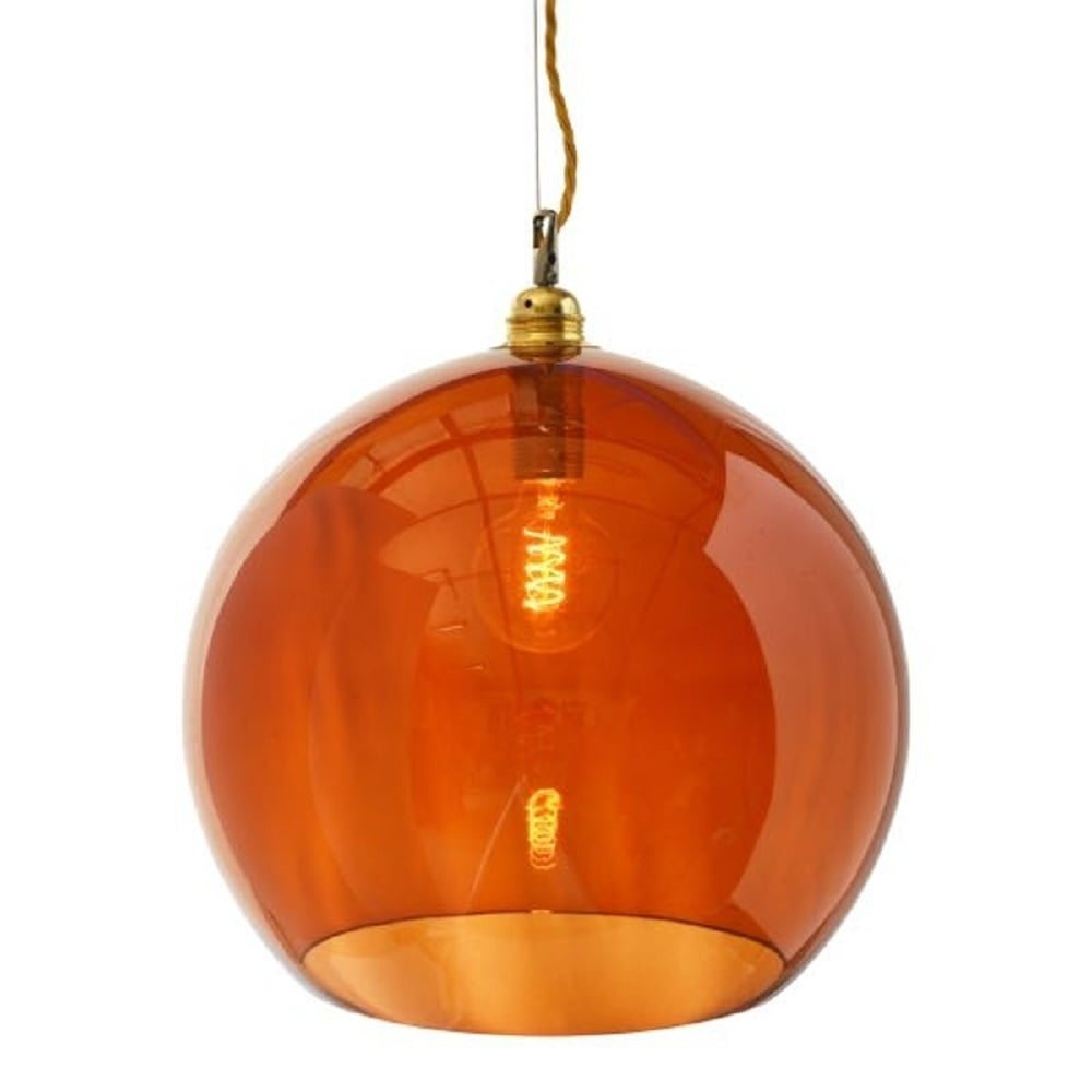 Hanging wall of gold lightsghting ceiling lights pendant lights transparent rusty orange glass ceiling pendant light for aloadofball Image collections