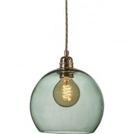 ROWAN small forest green glass ceiling pendant light
