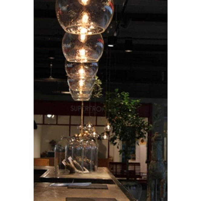 Rowan small ceiling pendant light in transparent coral pink glass rowan small transparent coral glass ceiling pendant light mozeypictures Image collections