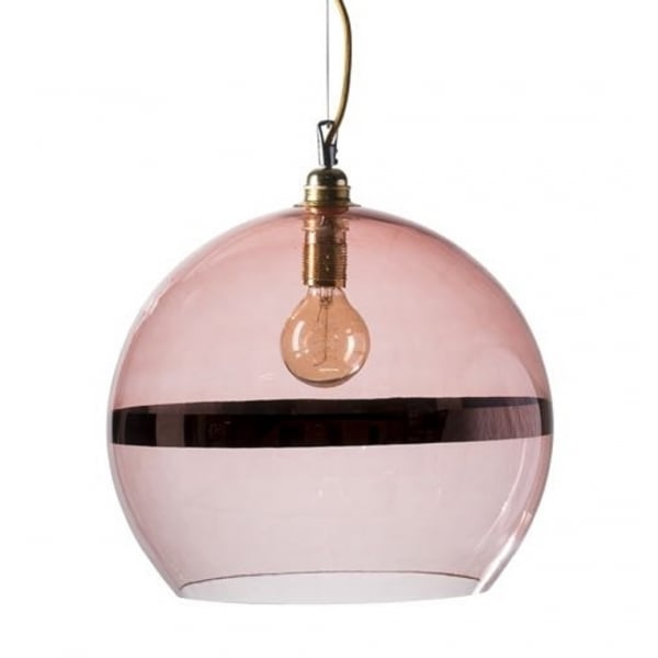 Pink Glass Pendant Light Lalique Style Pink Glass