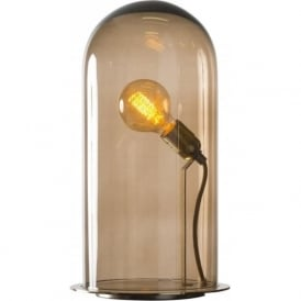 SPEAK UP! GLOW in a DOME chestnut brown glass table lamp (extra large)