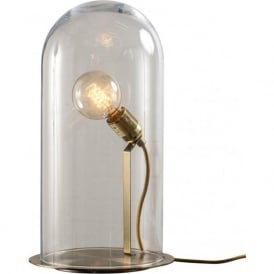SPEAK UP! GLOW in a DOME clear glass table lamp (extra large)