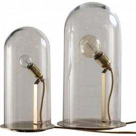 SPEAK UP! GLOW in a DOME clear glass table lamp (large)