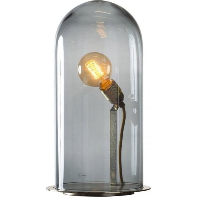 GLOW In A DOME Smoky Grey Glass Table Lamp Extra Large