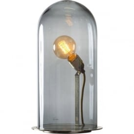 SPEAK UP! GLOW in a DOME smoky grey glass table lamp (extra large)