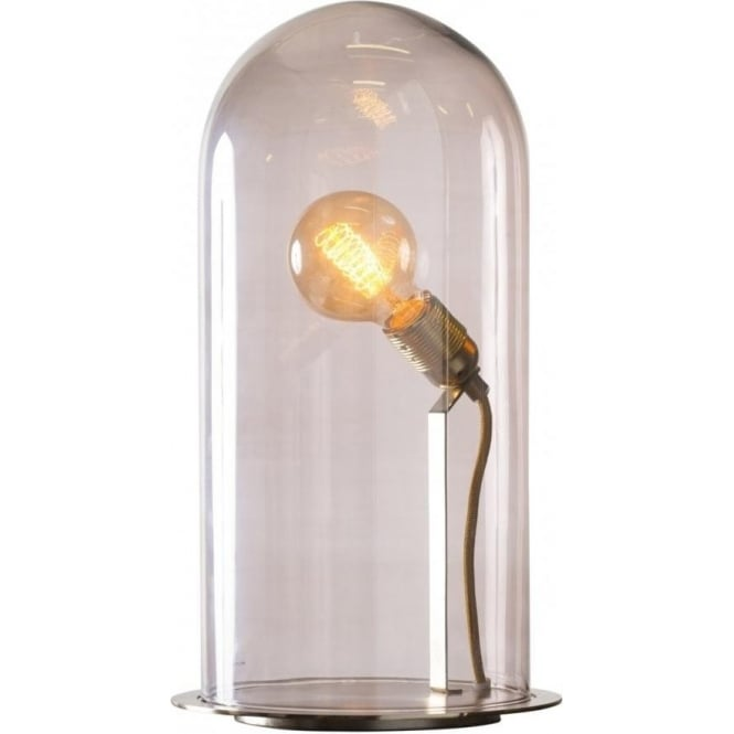 Amazing Glow In A Dome Transparent Obsidian Glass Table Lamp Extra Large  With Glass Table Lamp.