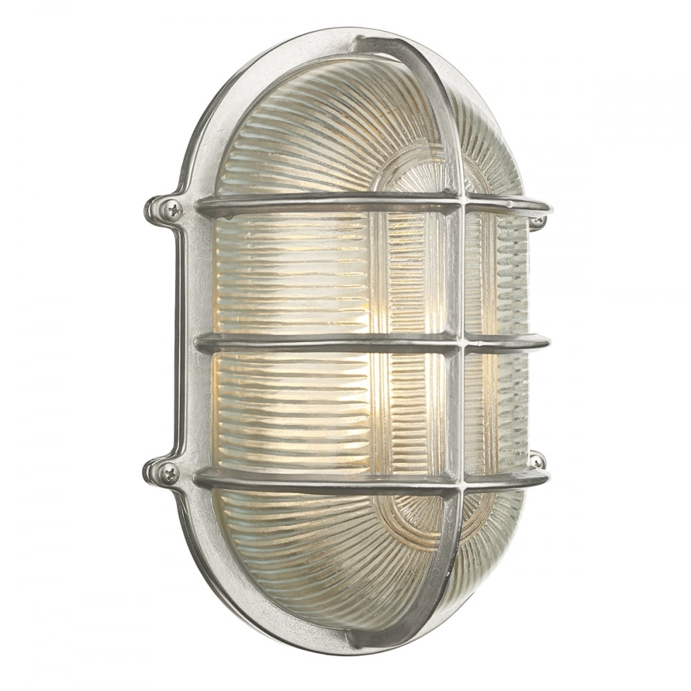 Large ip64 outdoor bulkhead wall light in nickel with ribbed glass admiral large nautical style ip64 bulkhead wall light in nickel with ribbed glass shade aloadofball Images