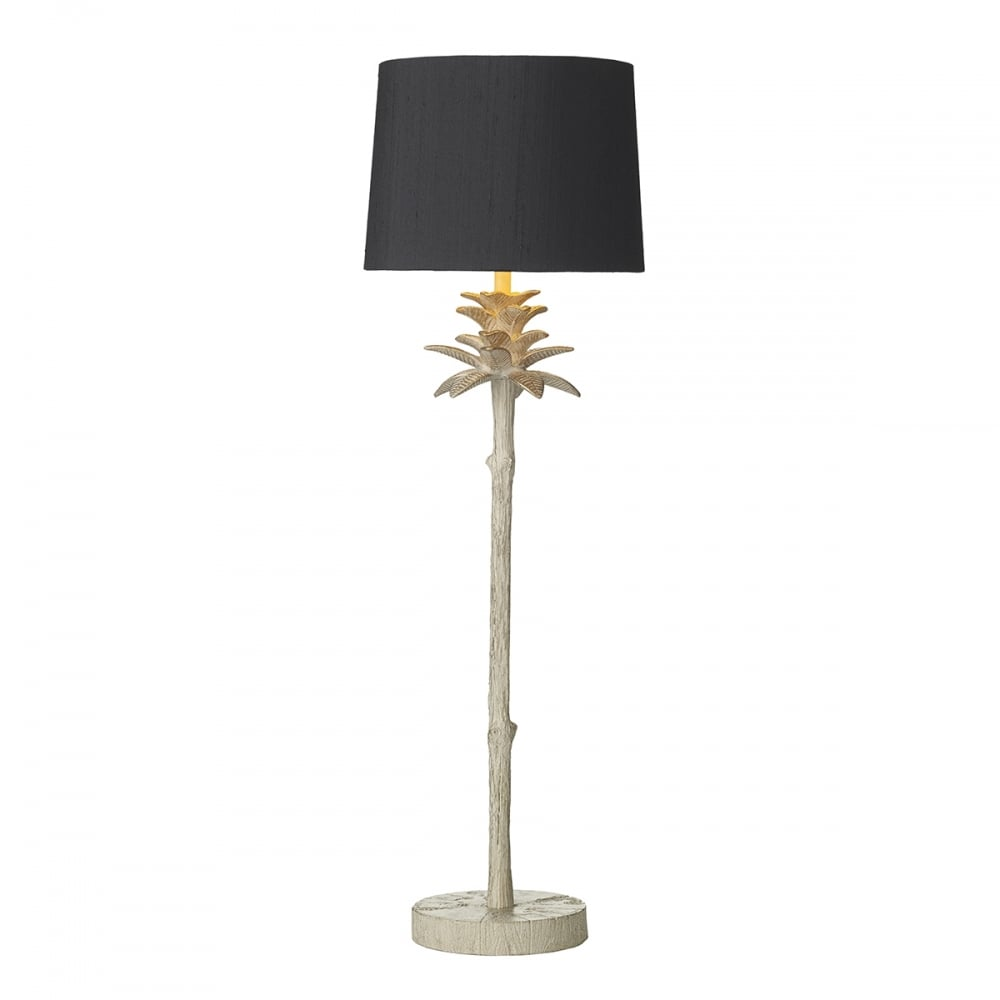 Edwardian Cream Gold Pineapple Table Lamp With French Navy