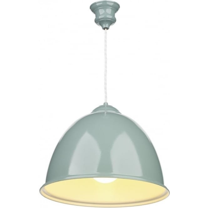 Blue Painted Metal Ceiling Pendant Light, Retro Style Over
